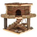 двухэтажный деревянный домик для хомяка