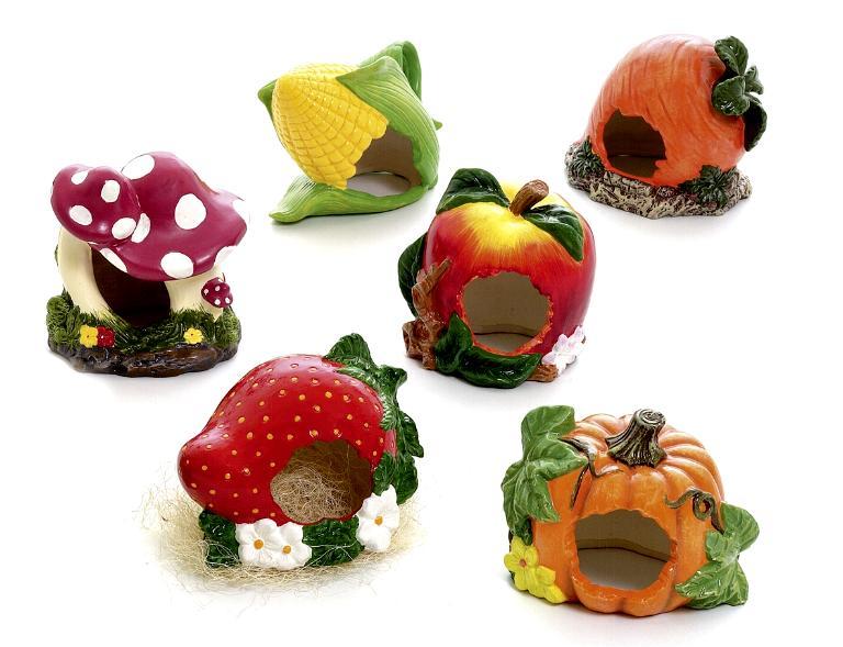 керамический домик для хомяка виде овощей