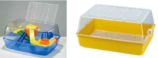 Клетка для джунгарика с пластиковыми боковинами