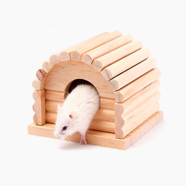 домик для хомяка из дерева