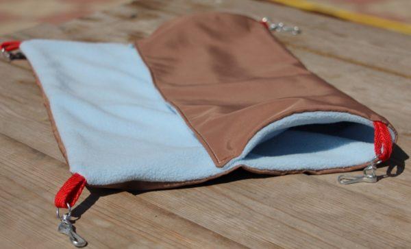 Подвесной гамак для крысы из двух видов ткани