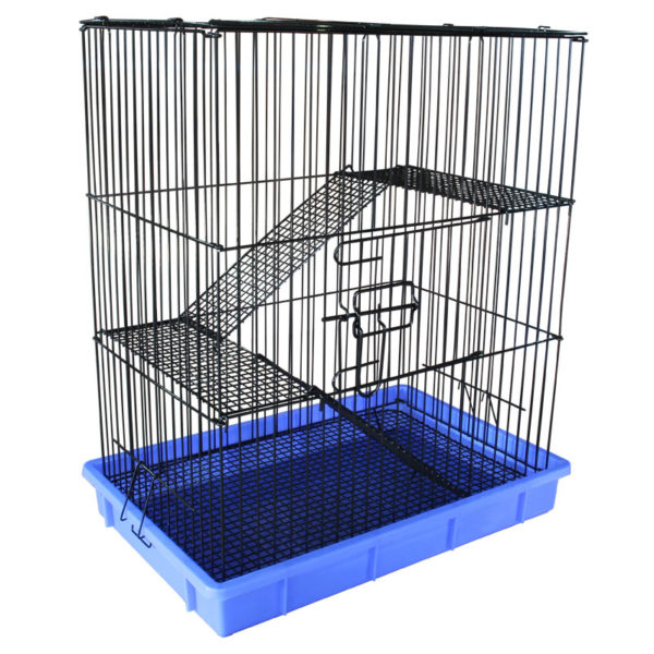 Клетка для крысы с вертикальными прутьями