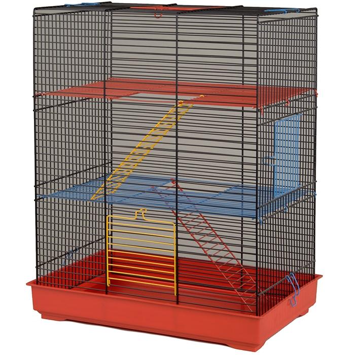 Клетка для крыс с горизонтальными прутьями