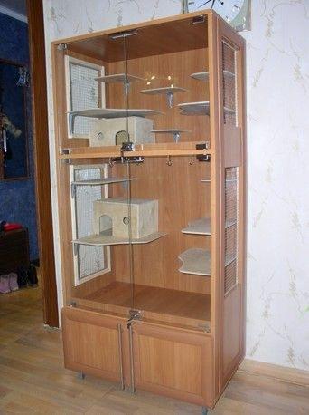 Витрина для шиншиллы из старой мебели