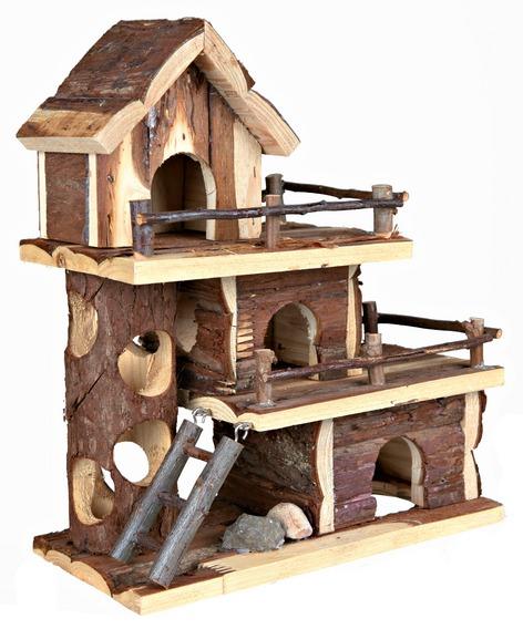 Трехэтажный домик для шиншиллы