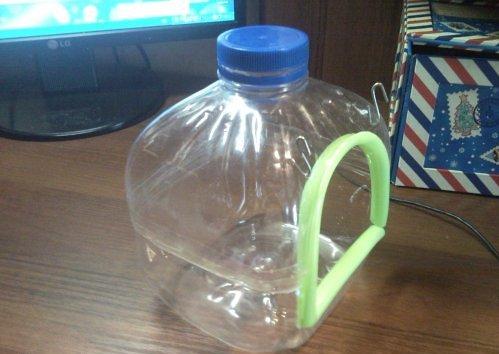 Купалка для шиншиллы своими руками из 5-ти литровой бутылки