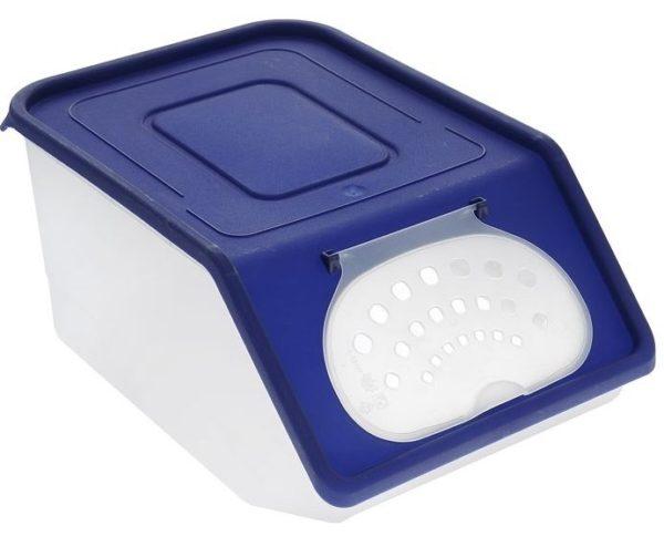 Купалка для шиншиллы из пластикового контейнера для овощей