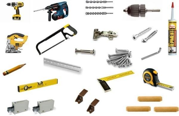 Инструменты необходимые для изготовления стеллажа