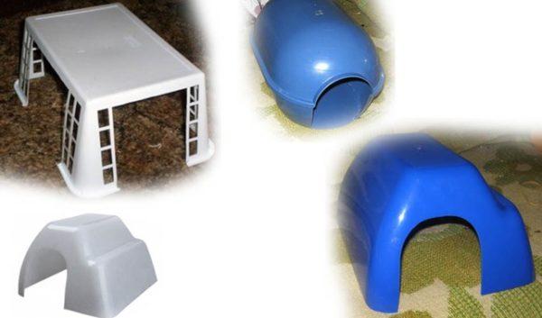 Домик для морской свинки из пластикового контейнера своими руками