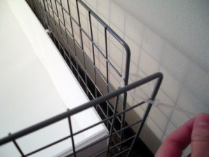 Соединение решетки при помощи стяжки