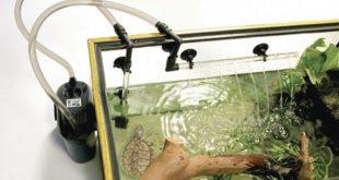 Фильтр для аквариума с красноухой черепахой