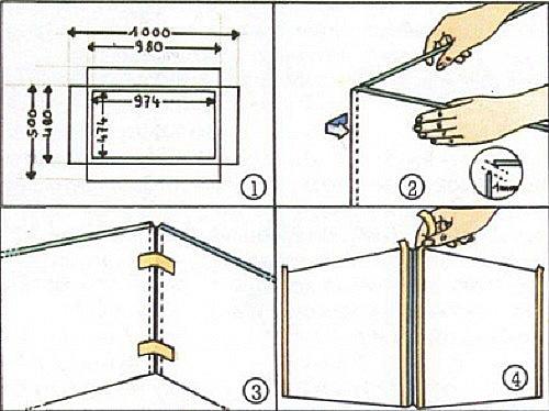 Инструкция по изготовлению террариума: оклейка стыков малярным скотчем