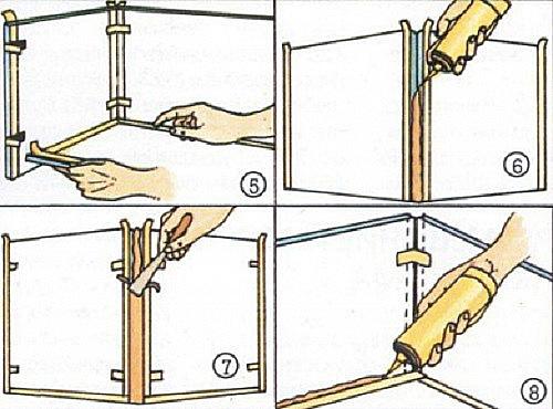 Инструкция по изготовлению террариума: оклейка стыков герметиком