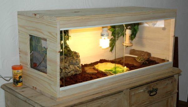 Террариум из дерева для черепахи своими руками