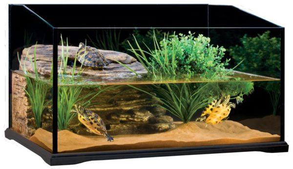 Наполнитель песок для аквариума с черепахами