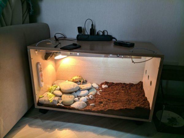 Наполнитель земля в террариум для черепах