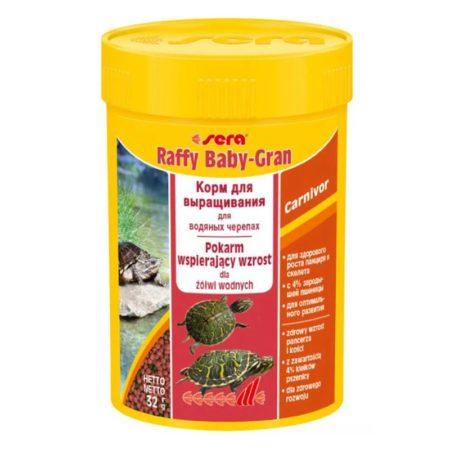 Корм для маленьких красноухих черепах Sera Raffy Baby Gran