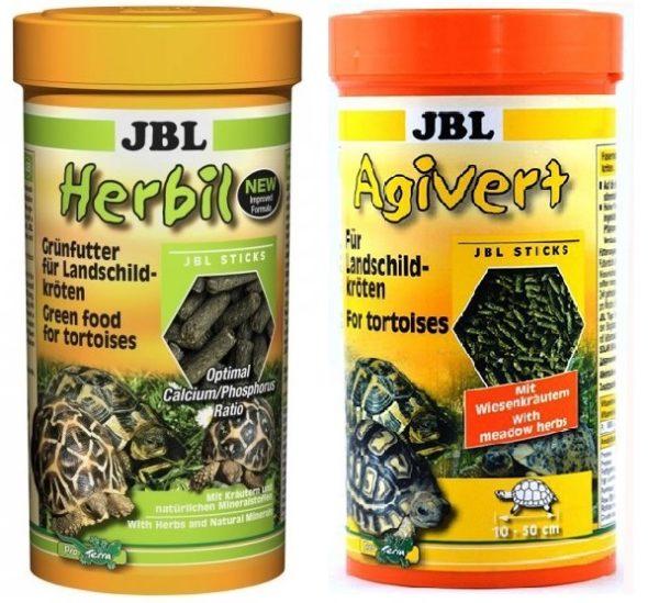 Корма для сухопутных черепах «JBL Agivert» и «JBL Herbil»
